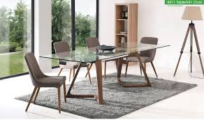 8811 dining table with 941 chair dining set in brown free