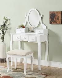 Bedroom Furniture Set With Vanity Amazon Com Roundhill Furniture Ashley Wood Make Up Vanity Table