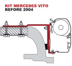 Fiamma Awning F45 Accessories Fiamma Kit Mercedes Vito Awning Intallation Adapter