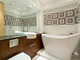 Custom Mirror Bathroom Mirror Sconce Gray Tile Floor Japanese Tub Custom Mirror