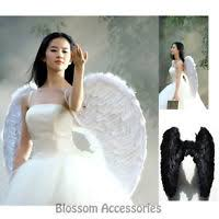 White Angel Halloween Costume Big Black Feather Angel Wings Photo Props Large Halloween