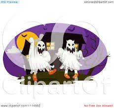 halloween house clipart clipart children dressed in ghost costumes in front of a haunted