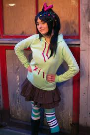 cool family halloween costume ideas vanellope von schweetz the glitch cosplay from wreck it ralph
