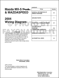 2004 mazda mx 5 miata mazdaspeed wiring diagram manual original
