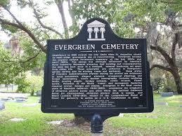 Map Of St Augustine Fl Evergreen Cemetery Marker St Augustine Fl