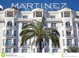 hotel martinez facade in cannes editorial stock photo image