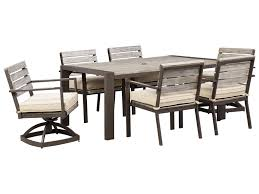 signature design by peachstone outdoor dining table set