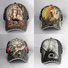 3d tiger elephant print tattoo hip hop cap personality antique
