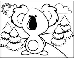 cute koala coloring