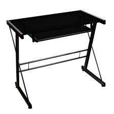 small black computer desk condo desk small desk glass desk computer desk office furniture