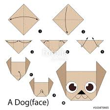 Step By Step Origami For - step by step how to make origami stock image