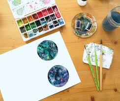 Mixing Paint Instagram by How To Paint A Galaxy With Watercolors Tangled Pen