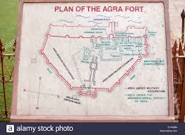 Agra India Map by Plan Of The Red Fort In Agra India Stock Photo Royalty Free
