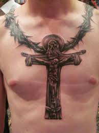 cross tattoos for men on chest with jesus pictures crucifix