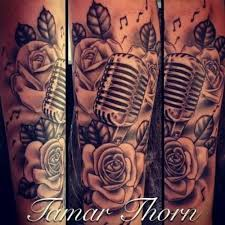 music rose sleeve tattoo google search tattoos