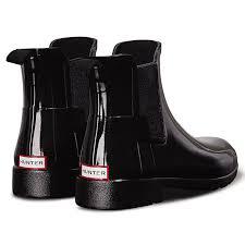womens black chelsea boots uk womens original refined chelsea gloss waterproof wellie