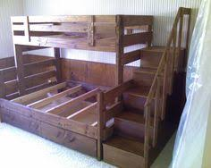 Wooden Bunk Bed With Stairs Pin By Billie Ratliff On My Style Pinterest Bunk Bed Plans