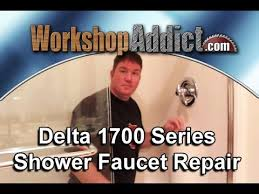 Delta Monitor 1400 Series Shower Faucet Repair Repair A Leaking Delta 1700 Shower Faucet Youtube