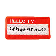 best patch hello i m trying my best patch peachy pins