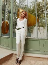 tenue mariage pantalon veste tailleur blanche de mariée et pantalon tailleur blanc