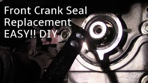how to replace a front crankshaft oil seal youtube