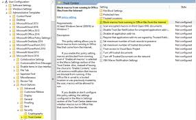 block macros from running in microsoft office using group policy