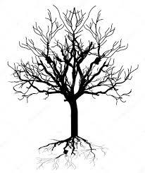 halloween spooky tree silhouette dead tree silhouette u2014 stock vector baavli 64423043