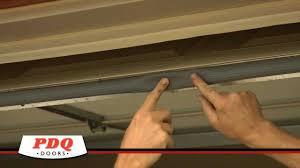 Overhead Door Stop by Garage Door Not Sealing Garage Door Weather Seal Options Pdq