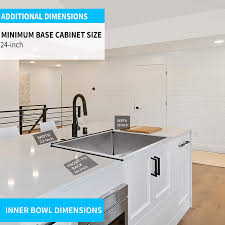 kitchen sink size for 24 inch cabinet simple deluxe 24 undermount workstation kitchen sink 16 single bowl stainless steel with accessories pack of 3 built in components silver