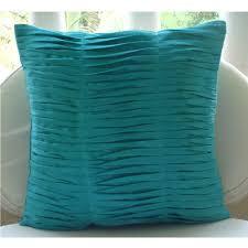 pillow covers for sofa amazon com designer aqua blue euro pillow covers 26