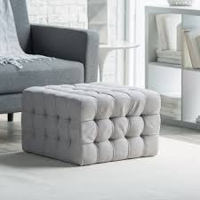 Square Ottomans Belham Living Allover Tufted Square Ottoman Grey Hayneedle