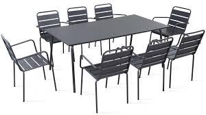 chaise jardin aluminium table de jardin metal table chaise jardin maison boncolac