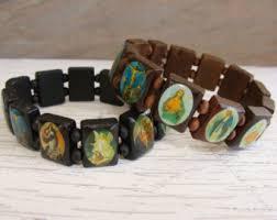 saints bracelet redwood bracelet etsy