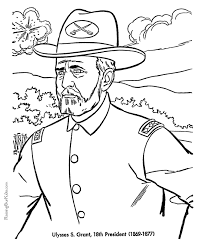 free printable coloring pages of us presidents free printable president ulysses s grant coloring pages