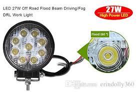 best construction work lights 4inch 27w round led work light spot beam off road driving light fog