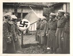 German Flag 1940 1940 French North African Soldiers Display A German Flag Captured