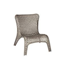 shop garden treasures tucker bend gray woven seat steel patio