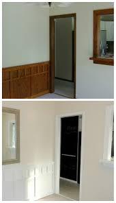 the best neutral paint colours to update dark wood trim dark