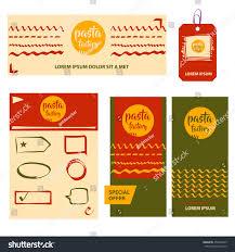 vector logo design template concept pasta stock vector 456694339