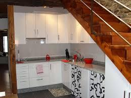 Brown White Kitchen Cabinets Kitchen Simple Kitchen Under Stair Decor With L Shape Contemporary