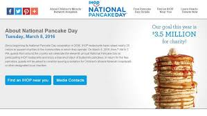 Get Free Pancakes At Participating National Ihop Free Pancake Day 2016 Menus Near Me Hours Heavy Com