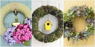spring door wreaths 15 diy spring wreaths ideas for spring front door wreath crafts