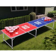 aluminum ping pong table 8 ft indoor outdoor portable folding beer pong table beer pong