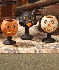 Paper Mache Pumpkin Goblin Goblets Paper Mache Bethany Lowe Halloween Decorations