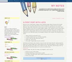 my notes free xml blogger template gisele jaquenod