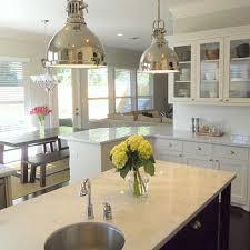 white carrara marble countertop transitional kitchen ashley