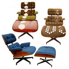 Lounge Chair And Ottoman Eames by Vintage Eames Lounge Chairs And Ottomans Get Maharam Makeovers For