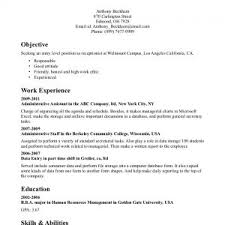 Resume Objective Entry Level Cover Letter Template For Resume Summary Vs Objective Statement