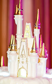 wedding cake wednesday snow covered castle disney weddings