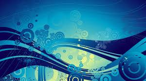 digital art cgi abstract blue circle waves wavy lines blue